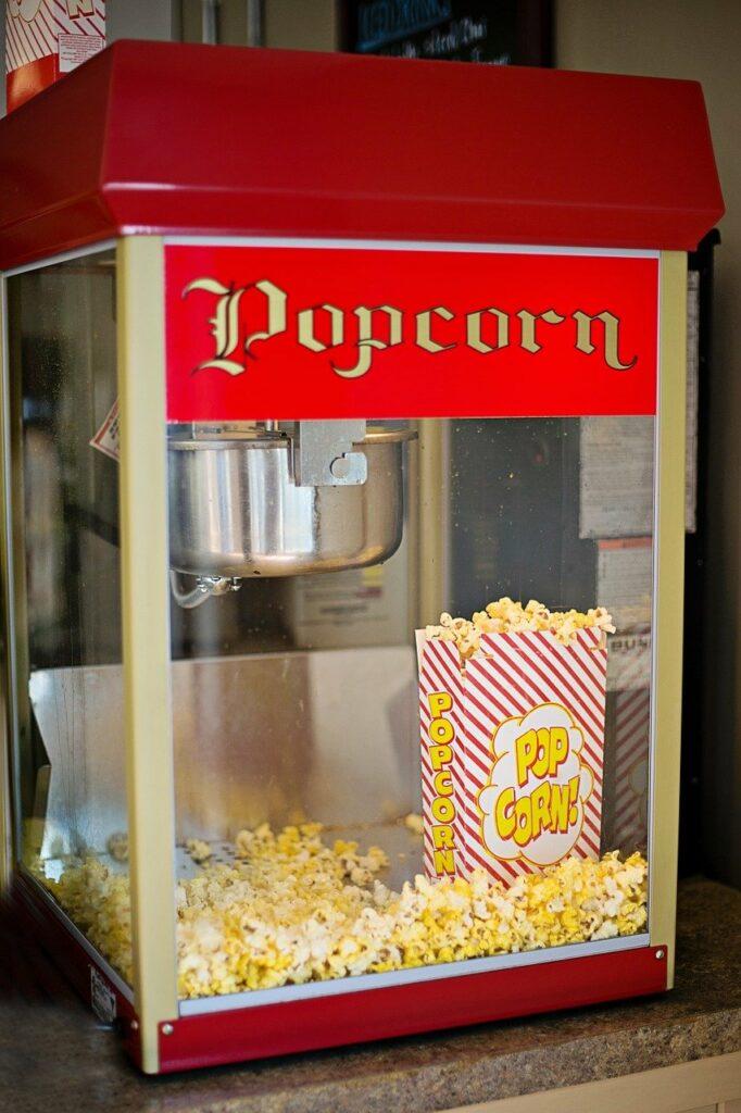 popcorn machine, old-fashioned, popcorn